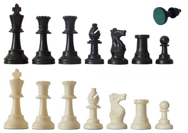 Schachfiguren Kunststoff schwarz/weiß, Königshöhe 97 mm