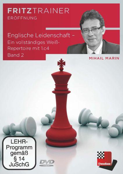 Schach DVD Englische Leidenschaft Vol. 2 - Ein vollständiges Weiß-Repertoire mit 1.c4