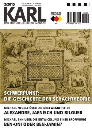 KARL - Die Kulturelle Schachzeitung Jahresabonnement (4 Hefte)