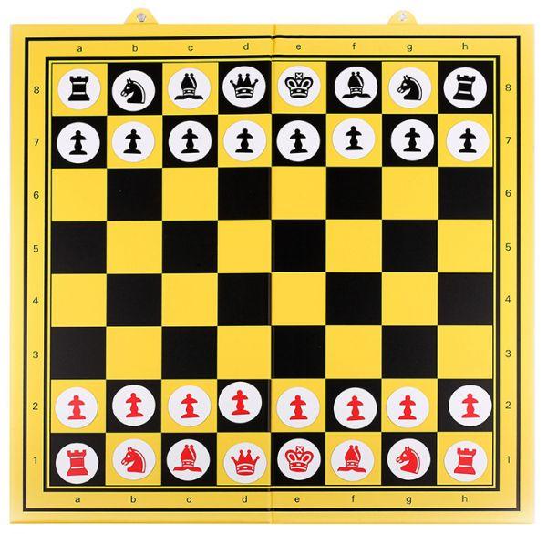 Demonstrationsbrett gelb-schwarz, Feldgröße 90 mm