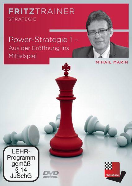 Schach DVD Power-Strategie 1 - Aus der Eröffnung ins Mittelspiel