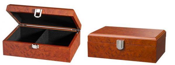Schachfigurenbox Wurzelholzdesign 240/155/85 mm mittel