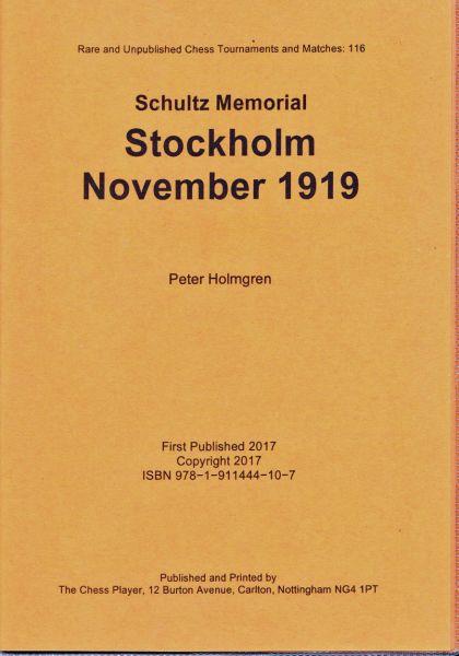 Schachbuch Stockholm November 1919