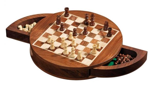 Schachkassette rund, magnetisch, Königshöhe 33 mm