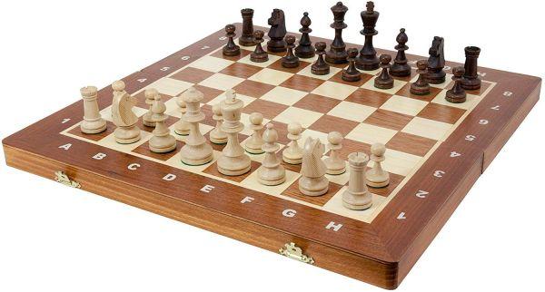Schachkassette BHB Turnier Nr. 4, Königshöhe 76 mm, Feldgröße 40 mm