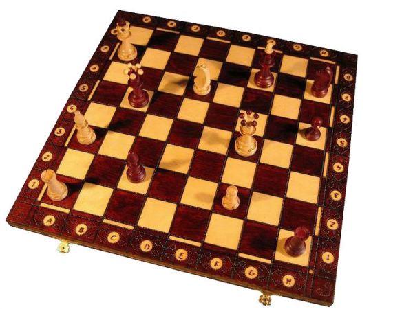 Schachkassette Ambassador, Königshöhe 110 mm, Feldgröße 53 mm