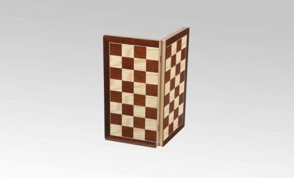 Schachkassette Jatoba/Ahorn, Königshöhe 75 mm, Feldgröße 45mm