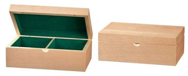 Schachfigurenbox Buche 225/142/83 mm, Filz mit Magnetverschluss