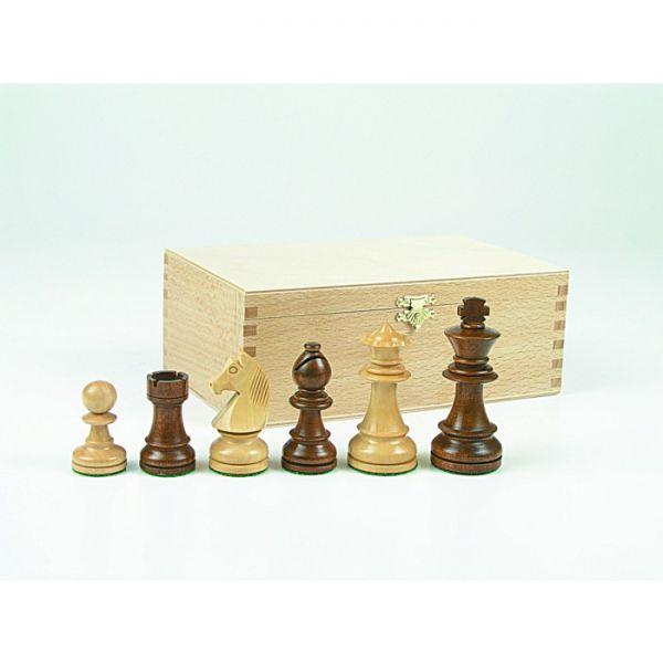 Schachfiguren Staunton braun, Königshöhe 95 mm