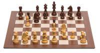 PC-Brett USB: DGT Smart Board mit Holzfiguren Timeless, ohne Zahlen und Buchstaben