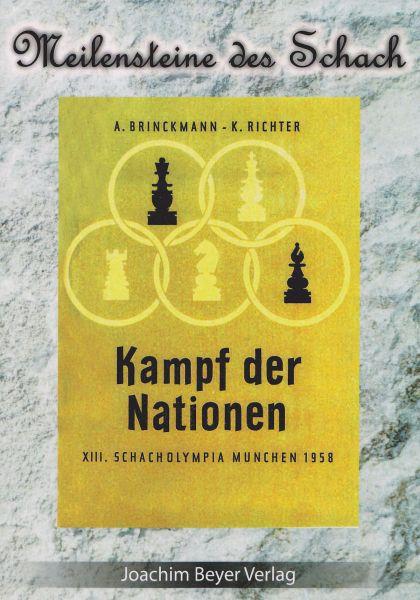 Schachbuch Kampf der Nationen - XIII. Schacholympia München 1958