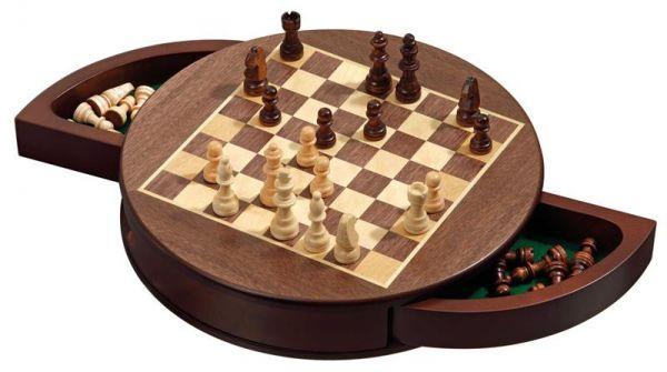 Schachkassette rund, magnetisch, Königshöhe 52 mm