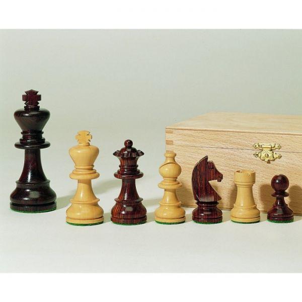 Schachfiguren Palisander und Buchsbaum, Königshöhe 95 mm