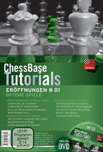 Schach DVD ChessBase Tutorials Eröffnungen # 01: Offene Spiele