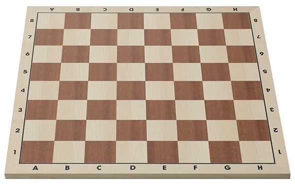 Turnierschachbrett mit Randbeschriftung, FIDE-Norm, Feldgröße 58 mm