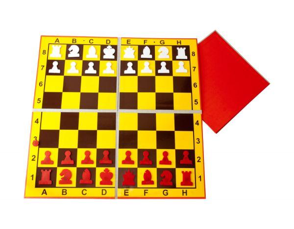 Demonstrationsbrett 2 x klappbar inkl. Figuren und Tragetasche
