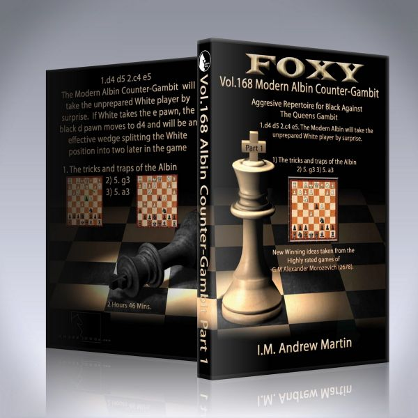 Schach DVD Modern Albin Counter-Gambit - Aggressive Repertoire for Black Part 1