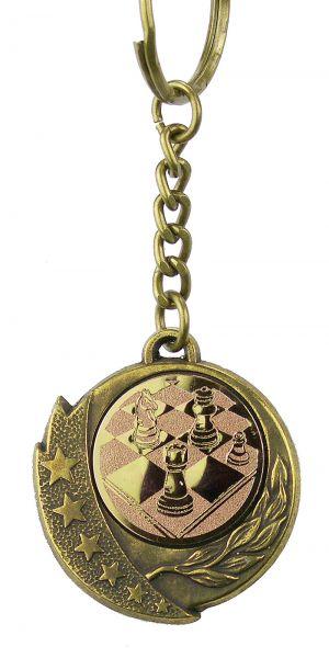 Schlüsselanhänger mit Schachemblem bronzefarbig