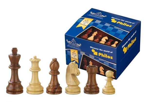 Schachfiguren Artus, Königshöhe 78 mm im Polybeutel