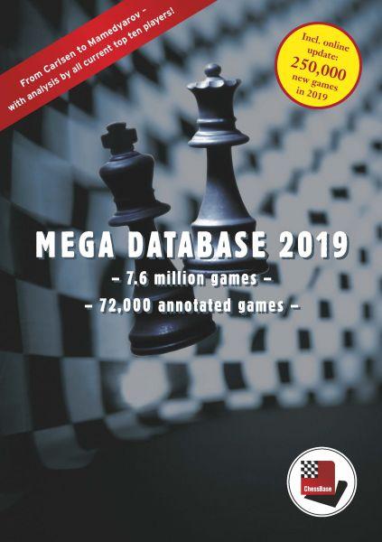 Schach DVD Update Mega Database 2019 von Big 2018